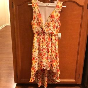 NWT Forever 21 floral high-low dress S